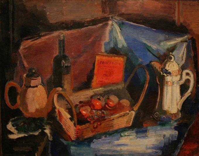寺門幸蔵「果物と水差し」